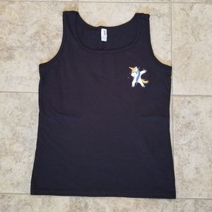 "Anvil Tops - NEW ""THE DAB"" UNICORN DANCING BLACK TANK TOP SHIRT"